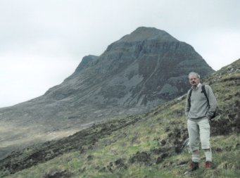 Dad with Liathach in the background